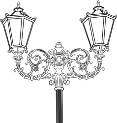 Decorative street lantern vector