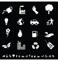 ecofriendly icons vector image
