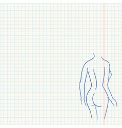 Female Body Sketch vector image
