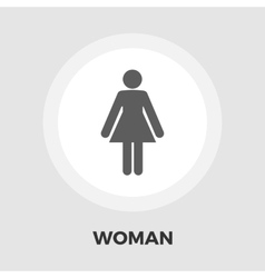 Female gender sign icon flat vector
