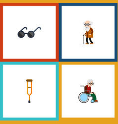 flat icon disabled set of stand spectacles vector image