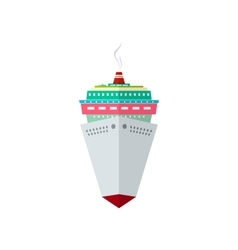 Front view of the cruise ship vector