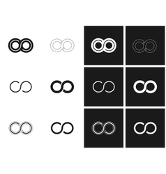 Infinity symbols in set vector image