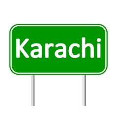 Karachi road sign vector