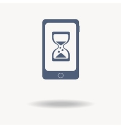 Loading concept loading logo phone hourglass vector