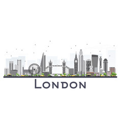 london skyline with gray buildings isolated on vector image