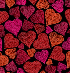 Love theme seamless background hearts seamless vector image vector image