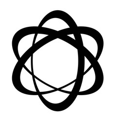 orbit logo three elipse with a displaced center vector image vector image