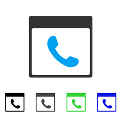 phone calendar page flat icon vector image vector image