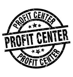 Profit center round grunge black stamp vector