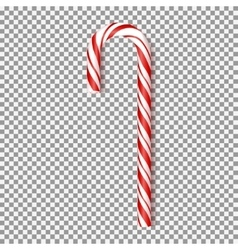 Realistic xmas candy isolated on transparent vector