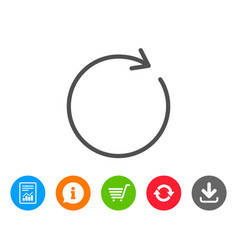 Refresh line icon rotation arrow sign vector