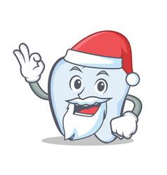 Santa tooth character cartoon style vector