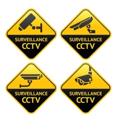 Security camera pictogram video surveillance set vector image vector image