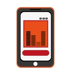 Smartphone bars sound icon vector
