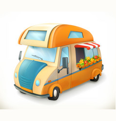 travel trailer camping 3d icon vector image