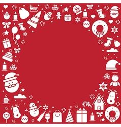 Vintage christmas card celebration background vector