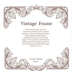 Vintage square ornate frame vector