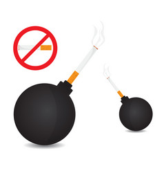world no tobacco bomb with tobacco vector image