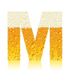 Alphabet beer m vector