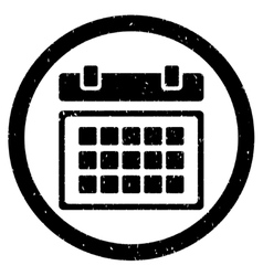 Calendar rounded grainy icon vector