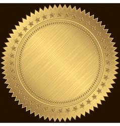 Golden sticker labels vector