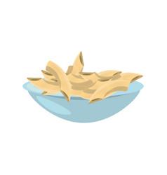 Cereal dish milk breakfast vector