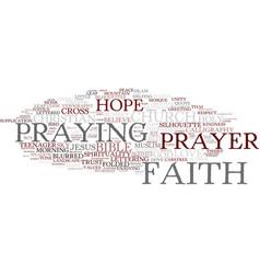 Faith word cloud concept vector