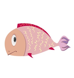 Sad fish vector