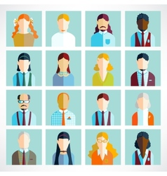 People icons people flat icons collection vector