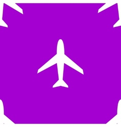 Plane web icon flat design seamless pattern vector