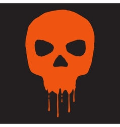 Skull with blood vector image