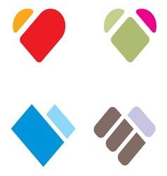 Heart shape2 resize vector image
