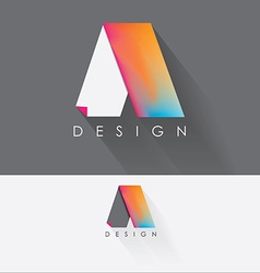 Letter a colorful design element for business vector