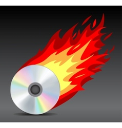 hot disk vector image