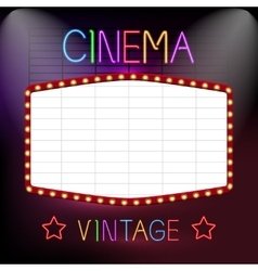 Cinema neon sign vector