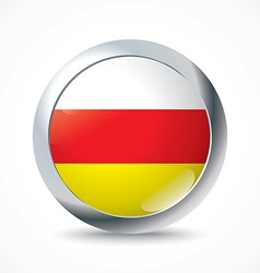 South ossetia flag button vector