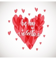 Be my valentine ink vector
