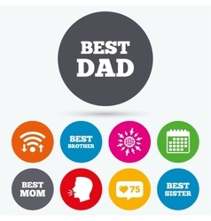 Best mom and dad brother sister icons vector