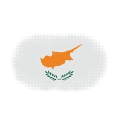 Cyprus flag halftone vector