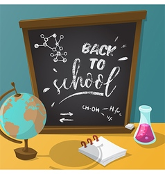 Back to school collection of school supplies vector