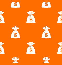 bag with dollars pattern seamless vector image vector image