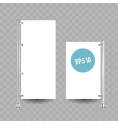 Blank roll up banner display on white vector