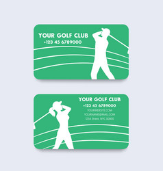 Business card design for golf club vector