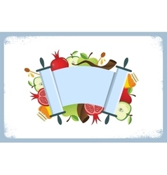 Card for jewish holiday rosh hashana with vector