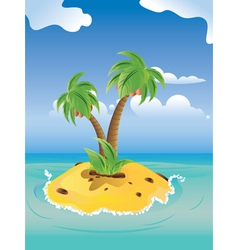Cartoon Palm Island3 vector image vector image