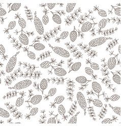 christmas botanical seamless pattern with fir vector image vector image