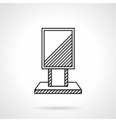 Citylight line icon vector