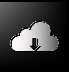 Cloud technology sign gray 3d printed vector