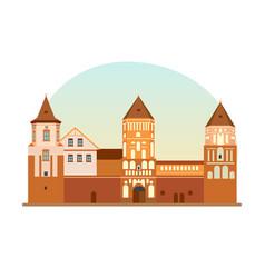 defensive fortification cultural value of belarus vector image vector image